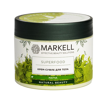 Markell, Крем-суфле для тела Superfood, матча, 300 мл