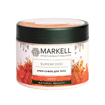 Markell, Крем-суфле для тела Superfood, манго, 300 мл