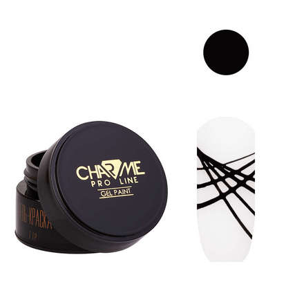CHARME Pro Line, Гель-краска «Геометрия» №12, черная