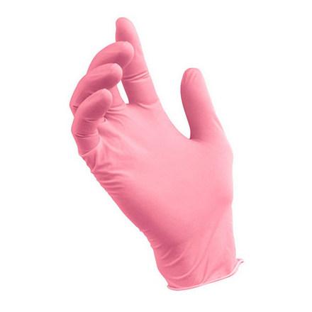 Nitrile, Перчатки нитриловые розовые, размер L