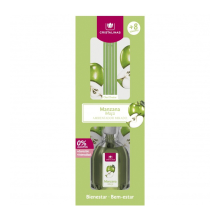 Cristalinas, Аромадиффузор  с запахом зеленого яблока, 40 мл