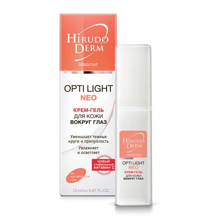 Hirudo Derm, Крем-гель для глаз Opti Light, 22 мл
