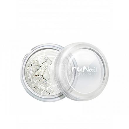 ruNail, Металлические украшения для ногтей, прямоугольники, серебро, 48 шт.
