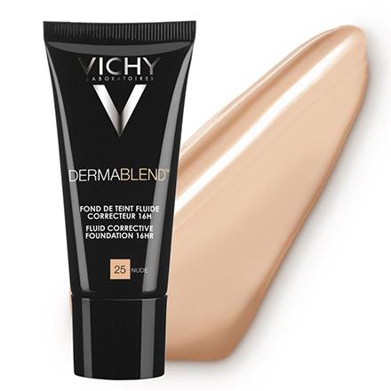 Vichy, Корректирующий тональный флюид Dermablend, 25 тон, nude, 30 мл