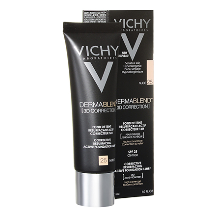 Vichy, Тональная основа Dermablend 3D Correction, тон 25, nude, 30 мл