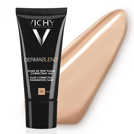 Vichy, Корректирующий тональный флюид Dermablend, 35 тон, sand, 30 мл