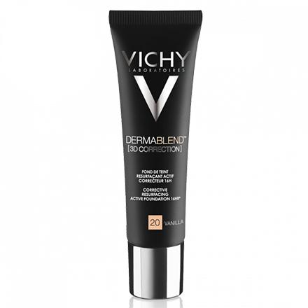 Vichy, Тональная основа Dermablend 3D Correction, тон 20, vanilla, 30 мл