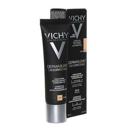 Vichy, Тональная основа Dermablend 3D Correction, тон 35, sand, 30 мл