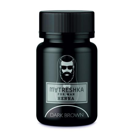 Matreshka, Хна в капсулах для бровей и бороды, Dark brown, 30 шт.