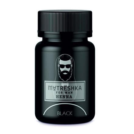Matreshka, Хна в капсулах для бровей и бороды, Black, 30 шт.