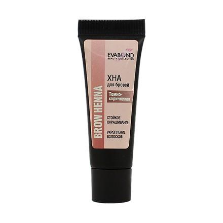 EVABOND, Хна для биотатуажа бровей Beauty Collection, темно-коричневая, 4 г