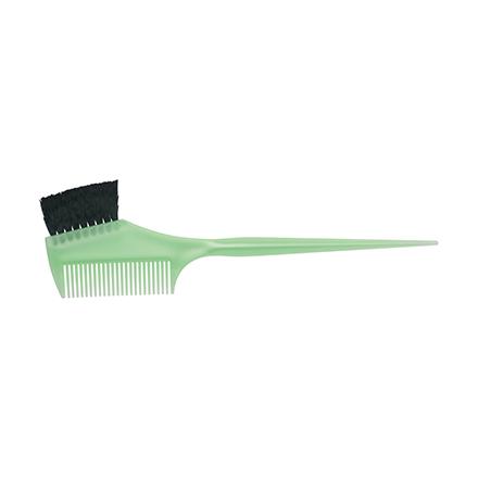Dewal, Кисть с расческой для окрашивания, узкая, зеленая
