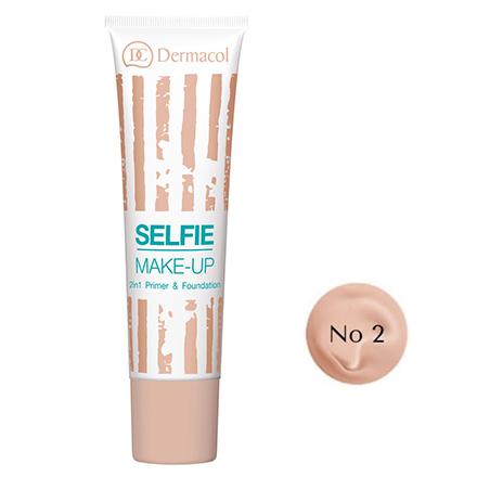 Dermacol, База и тональный крем Selfie Make-up 2 в 1, тон №2