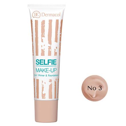 Dermacol, База и тональный крем Selfie Make-up 2 в 1, тон №3