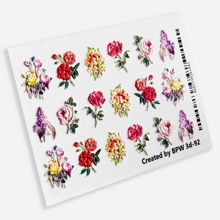 BPW.Style, Слайдер-дизайн 3D «Цветы винтаж» №3d-92