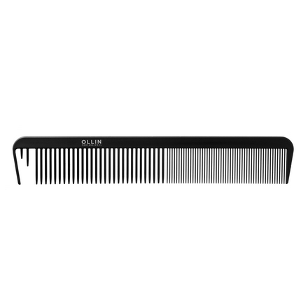 OLLIN, Расческа комбинированная, с отступными зубцами, 22 см