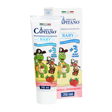 Pasta Del Capitano, Детская зубная паста Strawberry, 75 мл