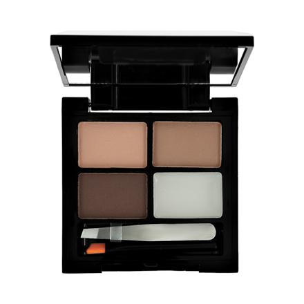 Makeup Revolution, Набор для бровей Focus & Fix, Medium Dark