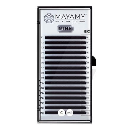 MAYAMY, Ресницы на ленте Mink Mix 2, C-изгиб, 0,07 мм