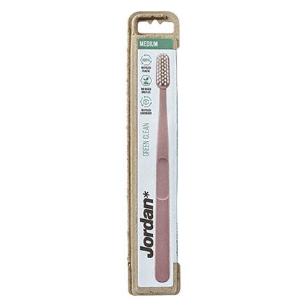 Jordan, Зубная щетка Green Clean Medium, розовая