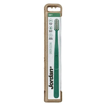 Jordan, Зубная щетка Green Clean Soft, зеленая