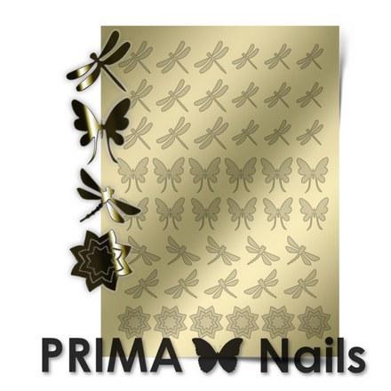 Prima Nails, Металлизированные наклейки BF-02, золото