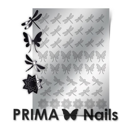 Prima Nails, Металлизированные наклейки BF-02, серебро
