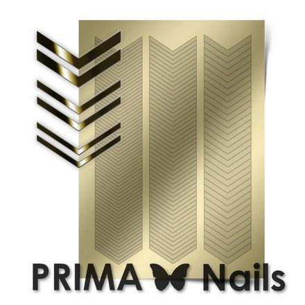 Prima Nails, Металлизированные наклейки GM-07, золото
