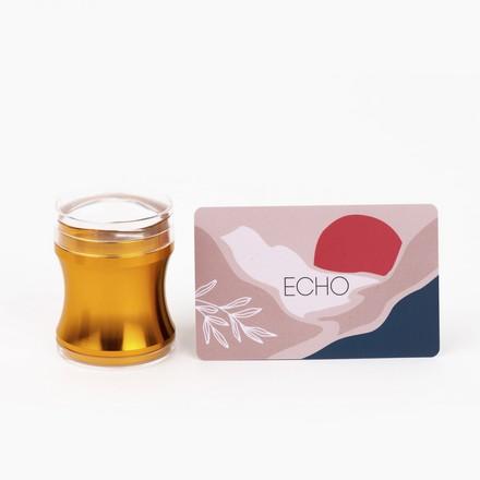 ONIQ, Штамп и скребок для стемпинга Echo, Gold