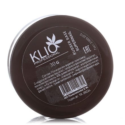 Klio Professional, База Supernail, Rubber, 30 г