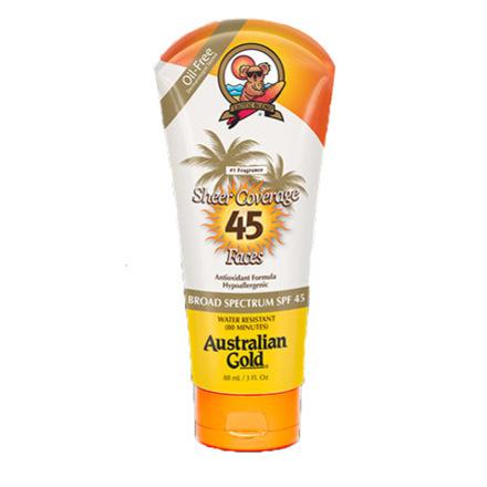Australian Gold, Premium Coverage 45 Sheer Faces 88 мл