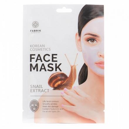 Fabrik Cosmetology, Гидрогелевая маска для лица с экстрактом улитки, 50 г