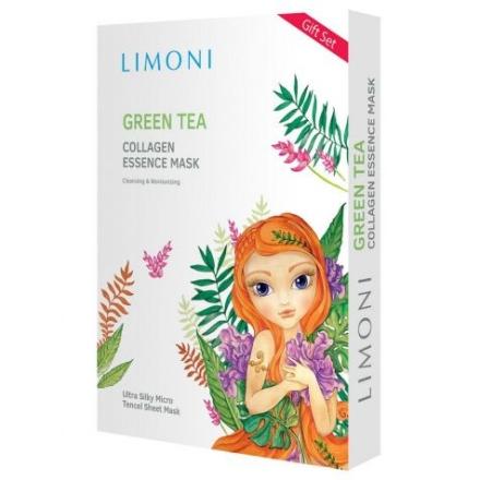 LIMONI, Маска для лица Green Tea Collagen, 6 шт.