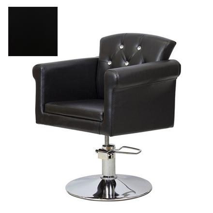 Мэдисон, Кресло парикмахерское «МД-309» гидравлическое, хромированное, черное