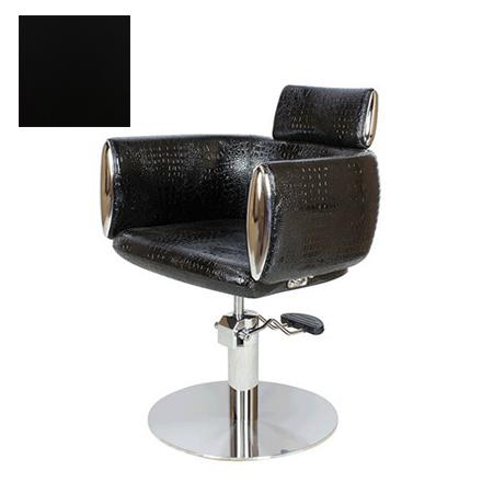 Мэдисон, Кресло парикмахерское «МД-318» гидравлическое, хромированное, черное