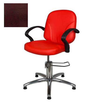 Мэдисон, Кресло парикмахерское «Бриз модерн» гидравлическое, хромированное, бордово-черное