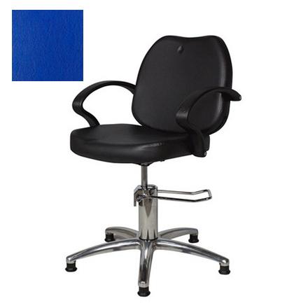 Мэдисон, Кресло парикмахерское «Соло модерн» гидравлическое, хромированное, синее