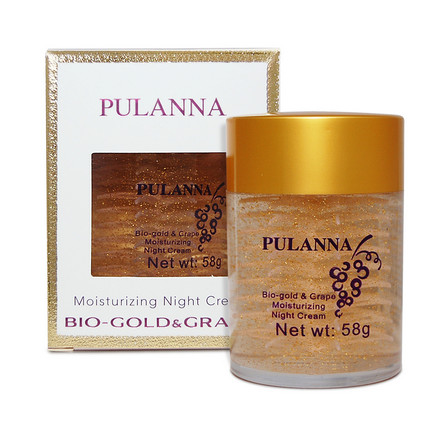 Pulanna, Ночной крем для лица Bio-Gold & Grape, 58 г