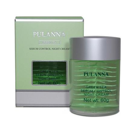 Pulanna, Ночной крем для лица Green Tea, 60 г