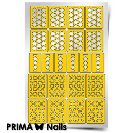 Prima Nails, Трафареты «Абстракция-2»