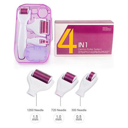 DRS, Мезороллер 4 в 1, розовый