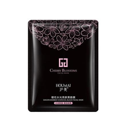 HOUMAI, Маска с экстрактом сакуры для лица (черная), 30 г