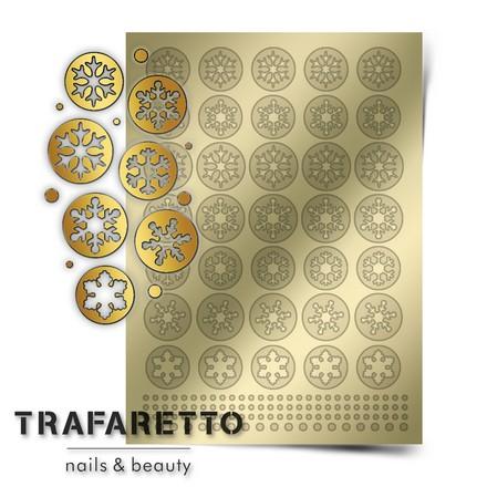 Prima Nails, Металлизированные наклейки W-01, золото