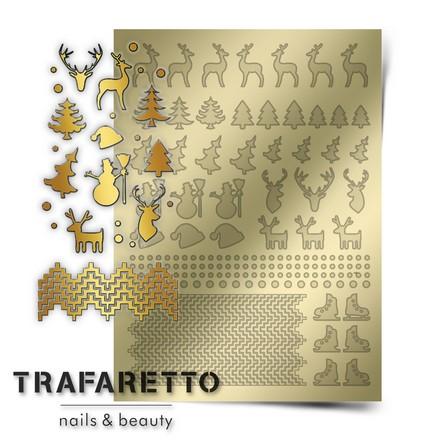 Prima Nails, Металлизированные наклейки W-03, золото