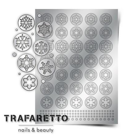 Prima Nails, Металлизированные наклейки W-01, серебро