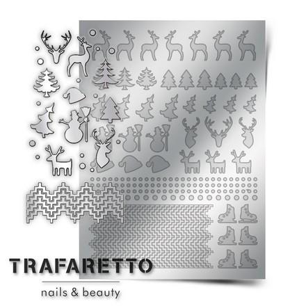 Prima Nails, Металлизированные наклейки W-03, серебро