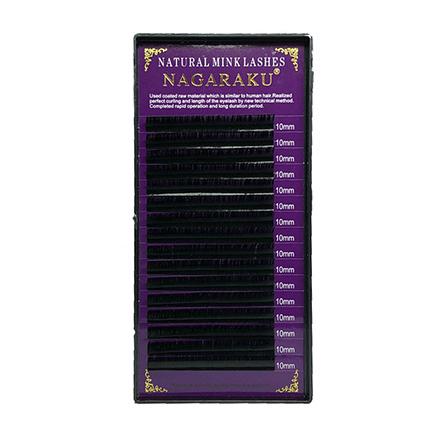 NAGARAKU, Ресницы на ленте Natural Mink, 10/0,07 мм, C-изгиб (УЦЕНКА)