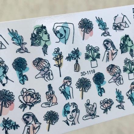 Anna Tkacheva, 3D-слайдер Crystal №1119 «Листья. Цветы»