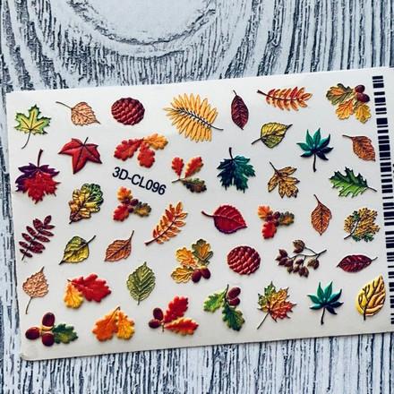 Anna Tkacheva, 3D-стикер CL №096 «Веточки. Листья»