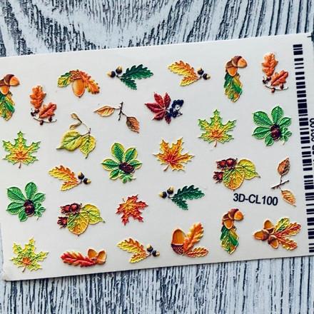 Anna Tkacheva, 3D-стикер CL №100 «Веточки. Листья»